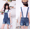 New 2016 Strap shorts female loose curling Slim hip denim shorts European stations Jumpsuits & Rompers overalls women Jeans