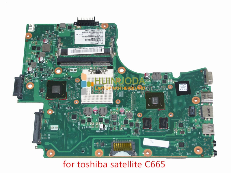 NOKOTION V000225180 Main Board For Toshiba Satellite C665 Laptop Motherboard HM65 DDR3 GeForce GT315M nokotion genuine h000064160 main board for toshiba satellite nb15 nb15t laptop motherboard n2810 cpu ddr3