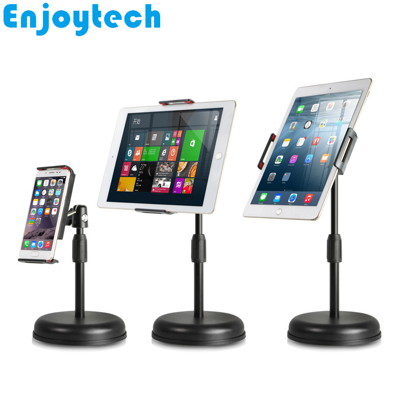 New Tabletop Mounts Stands with Holder for iPad Tablets iPhone Samsung Huawei Xiaomi Mobile Phones Tripod Video Bloggers