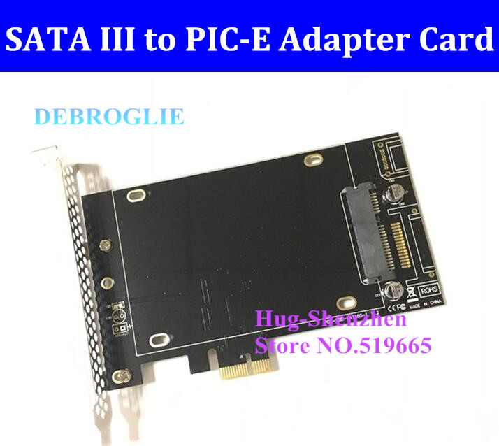 New High Speed DEBROGLIE DB-2016 SATA III to PCIe SSD Adapter card for mac pro 3.1-5.1 OSX 10.8-10.12 new debroglie db 2016 sata iii to pci e x1 expansion adapter card for mac pro 3 1 5 1 osx10 8 10 12