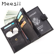 Meesii Men Short Genuine Leather Wallets Hasp Open Card&photo Holder Wallet Fashion Soft Cow Passport Pocket