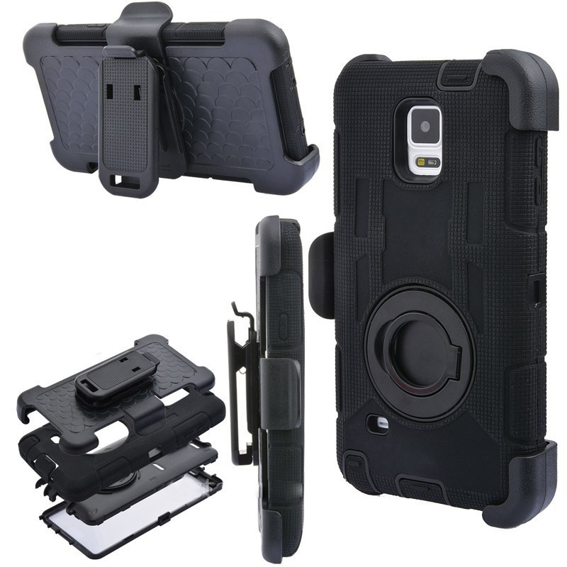 S6 S7 Bord Note 4 Note 8 Cas 4 en 1 Robuste armure Militaire + Ceinture Clip Holder Antichoc Retour Cas Pour Samsung Galaxy S8 Plus cas