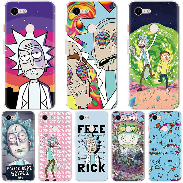 size 40 a8b60 be073 US $1.29 15% OFF|Rick And Morty Fashion Case For Coque Google Pixel 3 XL  Thin Back Cover For Google Pixel 2 XL Phone Case Soft Pattern Silicone-in  ...