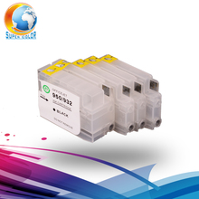 4 Colors Empty Refillable Ink Cartridge With Chip For HP 932 933 932XL 933XL For HP Officejet 6100 6600 6700 7110 7510 7610 7612