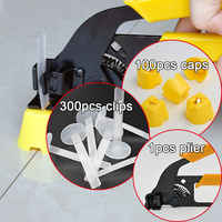Free Shipping Tile Leveling System Spacer Clip Make Wall Floor Level Construction Tool Include 100caps 300straps
