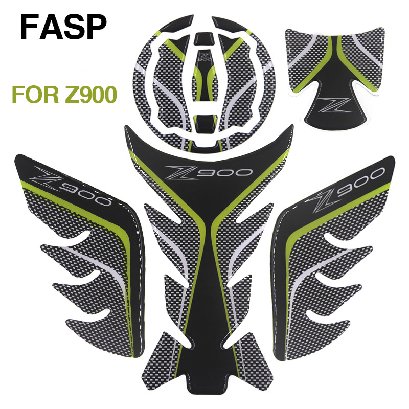 New FASP Carbon 3D Tank Pad decals & stickers Emblem Protection Gas Cap Fit motorcycle Z900 Z 900 2017 car sticker