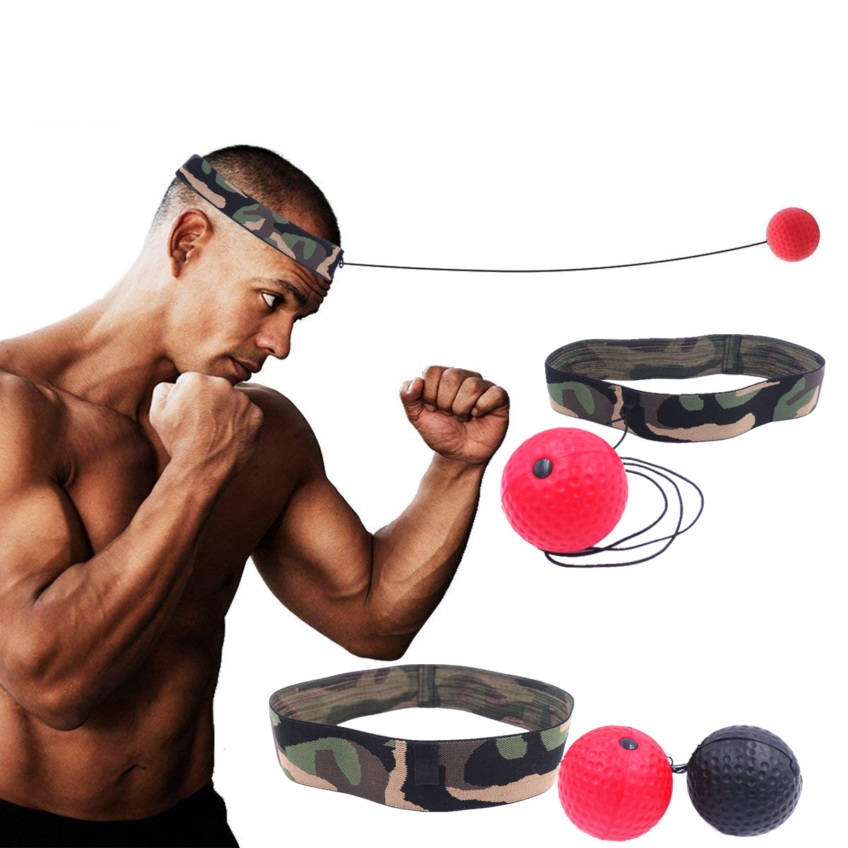 Boxing Reflex Ball Fight Ball For Muay Thai Exercise Combat Punching Ball Improve Reactions Speed Hand Eye Coordination Training