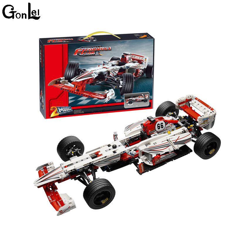 (GonLeI) New Decool 3366 Technic Grand Prix Racer building bricks blocks Toys for children Compatible with Lepin Bela 42000 lepin 02025 city the high speed racer transporter 60151 building blocks policeman toys for children compatible with lego