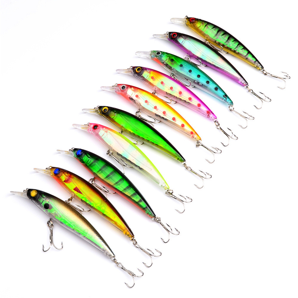 1pc 11cm 30g Simulation Floating Fishing Lures Plastic Hard Bass Baits 5 Colors Minnow Wobblers For Trolling Lures