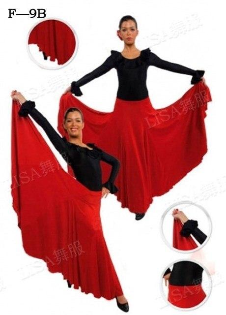 a8243806c Women Lady Flamengo Dress Skirt Spanish Flamenco Dance Dress Skirts  Flamenco Dance Costumes For Women Vestido
