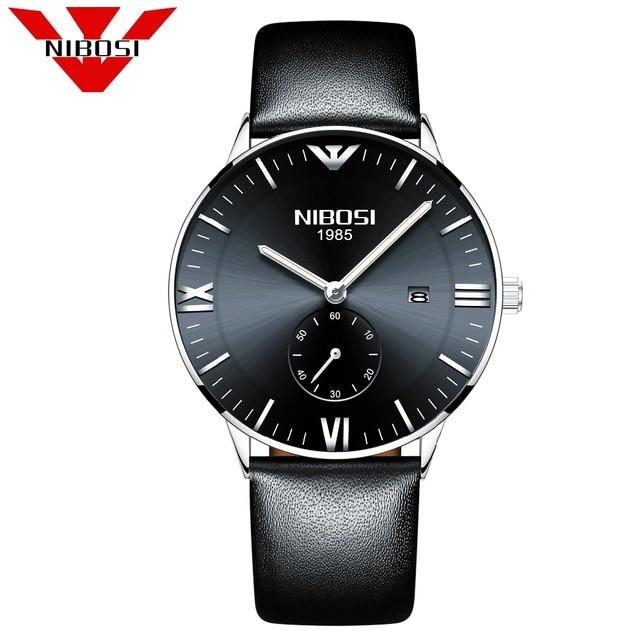 1ddb6cd5a25 NIBOSI Relógio De Pulso Dos Homens 2018 Top Marca de Luxo Masculino Relógio  de Quartzo Relógio