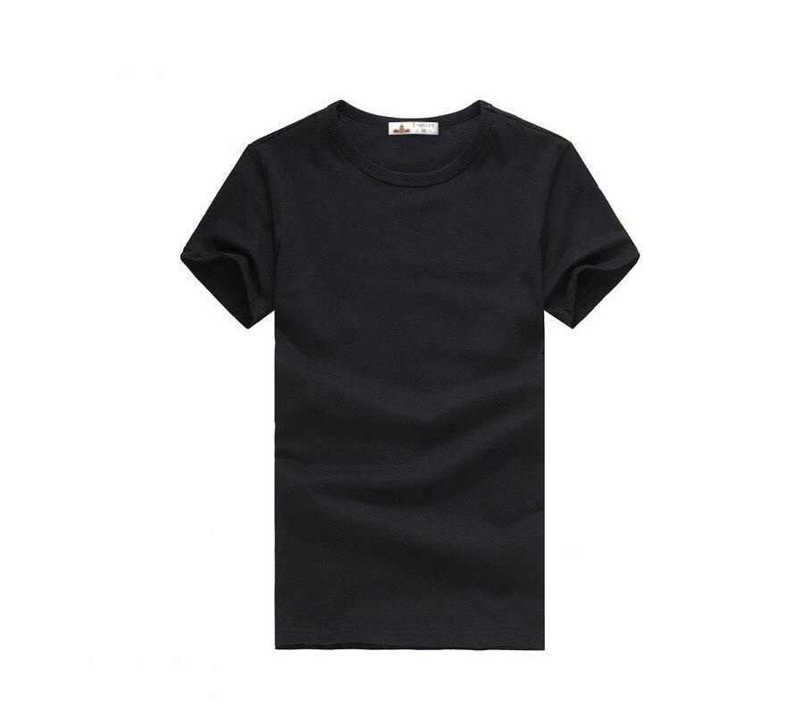 2019 จัดส่งฟรีใหม่ Slim สีเขียวสีน้ำเงินสีเทาสีดำสีขาวเสื้อยืด Slim Fit เสื้อแขนสั้นผู้ชายเสื้อยืด 6 ขนาด S-XXXL
