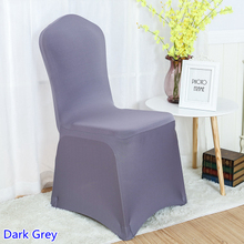 Wholesale Lycra Chair Covers Australia Body Built Chairs Buy Cover And Get Free Shipping On Aliexpress Com Colour Dark Grey For Wedding Banquet Decoration Spandex Stretch Party