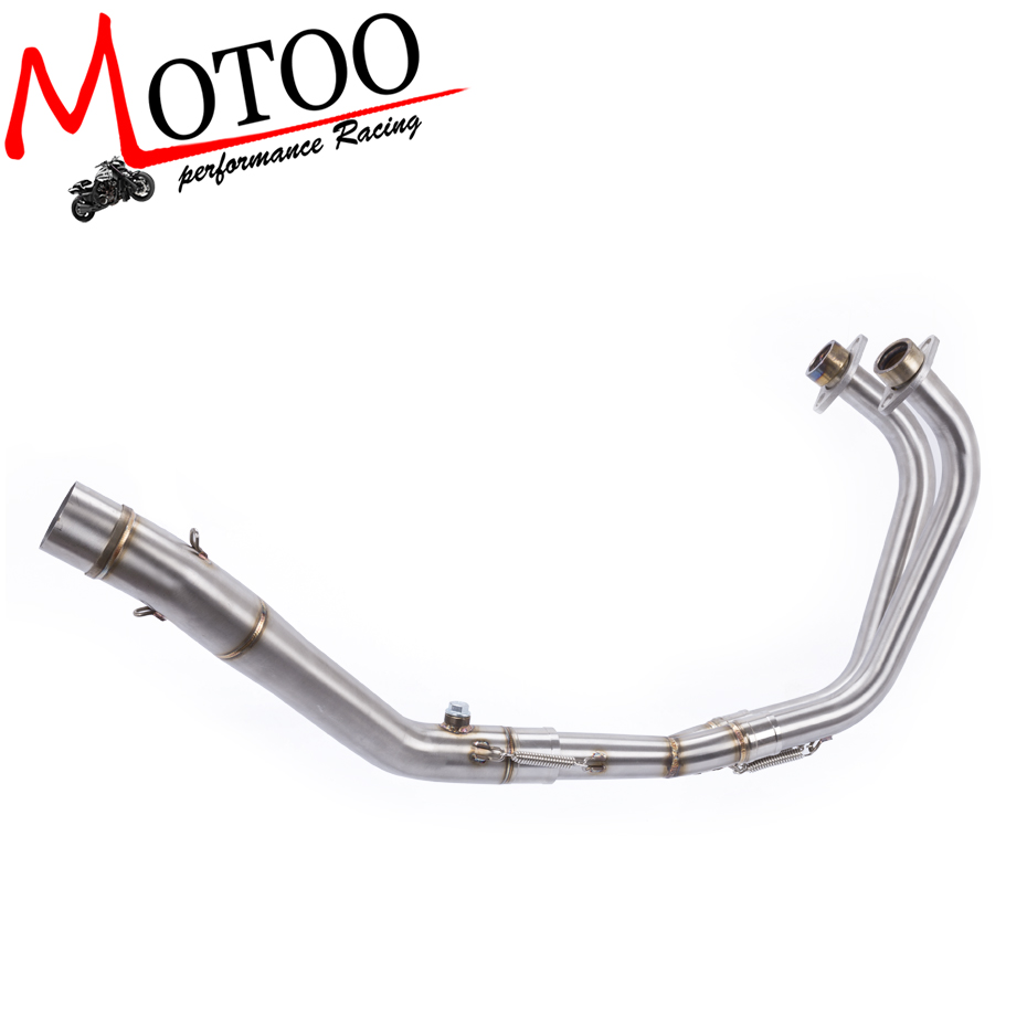 Motoo -  Full Exhaust System pipe middle pipe slip on for YAMAHA YZF R25 R3  2015 2016 2017 2018 without exhaust(China)