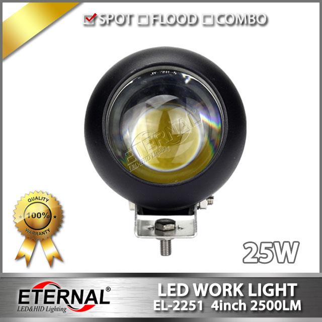 2pcs 4inch 25W round led fog lamp high power driving headlamp for offroad 4x4 Wrangler UTV Raptor day time running light