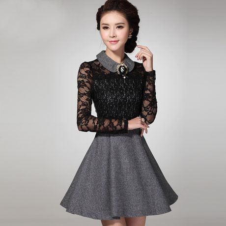 Aliexpress Buy 2016 New Winter Embroidery Office Dress For