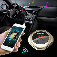 Wireless Bluetooth Handsfree FM Transmitter Car Kit MP3 Music Player Dual USB Car Charger Car Styling