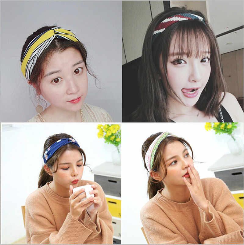 Корейский стиль моды для женщин узел эластичный головная повязка в виде чалмы волос руководитель группы аксессуары для женщин девочек повязки для волос тюрбан