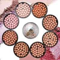 2019 Natural Face Blush Ball Waterproof Blush Highlightr Long Lasting Pigments Matte Oil-control Contouring Blush Make Up Brush