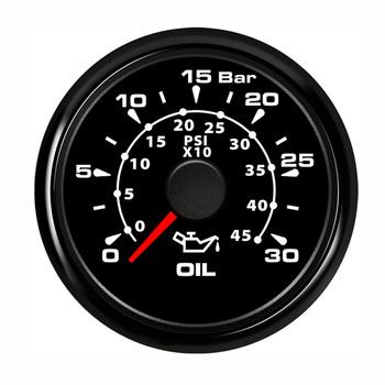 Wodoodporny 52mm miernik ciśnienia oleju 0 ~ 30 Bar 450 PSI wskaźnik ciśnienia paliwa z czerwone podświetlenie dopasowanie samochodu łodzi jachtu tanie i dobre opinie JMZYBB Fuel Pressure Gauge Stainless Steel+Nickel-Plated Plastic 300g Oil Pressure Gauge HMP2 Boat Pressure Gauge Front