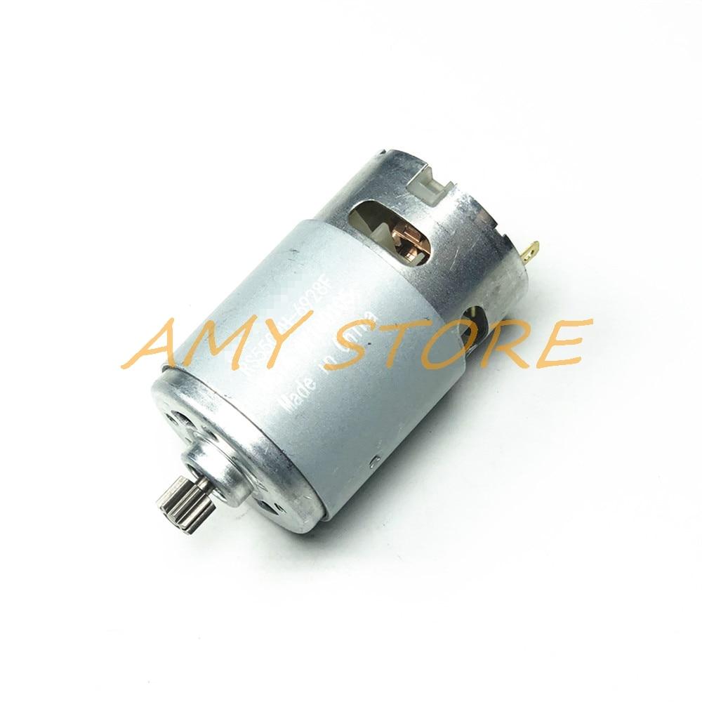 RS550 Motor 17 14 15 11 12 Dentes 9 18 12 Dos Dentes 7.2 9.6 10.8 V 14.4V 16.8 V 21 25VGear 3 3.5mmshaft Para Carga Sem Fio Broca Chave De Fenda
