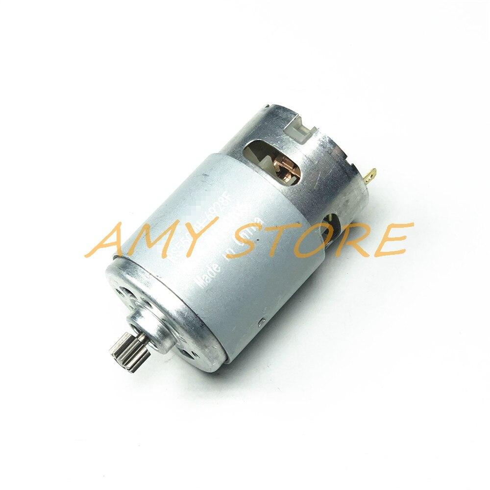 RS550 Motor 17 14 15 12 dientes 9 dientes 7,2, 9,6 de 10,8 12V 12V 14,4 V 16,8 V 18V 21V 25V ENGRANAJE 3 mmeje para destornillador de taladro de carga inalámbrico