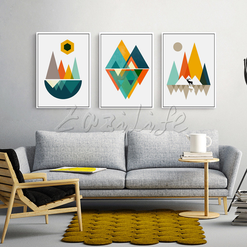 Poster and print geometry,Nordic modern abstract watercolor on canvas,wall pictures for living room home decor ,cuadros art wallPoster and print geometry,Nordic modern abstract watercolor on canvas,wall pictures for living room home decor ,cuadros art wall
