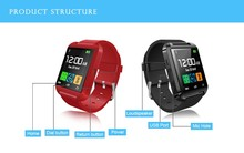20 teile/los Bluetooth smart uhr U8 Handgelenk smartWatch für Samsung S4/Note2/3 für HTC für LG für Xiaomi Android Phone Smartphones