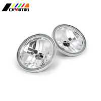 Motorcycle Chrome Round Auxiliary Passing Lamp Driving Headlight Spot Fog Light For Harley Except '14 later Touring Models