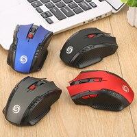 Gamer Mouse 2.4G Senza Fili Del Computer PC Del Computer Portatile Profissional di Gioco 1000dpi 2000 DPI USB Optical Mouse Gamer Design Simmetrico 6D