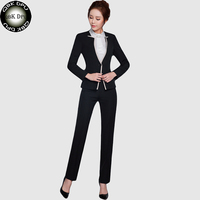 QBK DPU Brands Fashion Slim Blazer Feminino Office Jacket Blazer Suits 2017 New Arrival Black Hight
