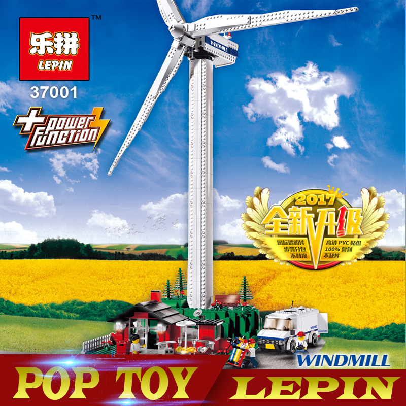 Creative Series LEPIN 37001 The Vestas Windmill Turbine Set Children Building Blocks Bricks Educational Toys Model Gifts 4999 lepin 37001 creative series the vestas windmill turbine set children educational building blocks bricks toys model for gift 4999