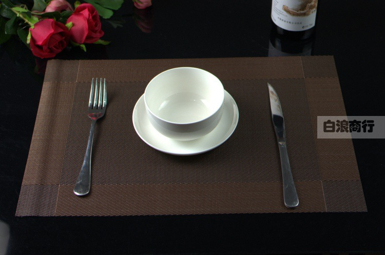 1pc Table Mats Placemat 3 Colors Decoration PVC Kitchen Table Mats Dinning Waterproof Table Cloth
