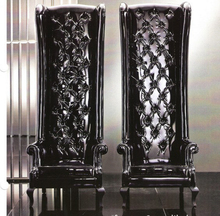 Cuero de vaca genuino silla / cuero real / ocio / silla de sala de estar muebles para el hogar de estilo post moderno respaldo alto