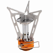 Hiking Outdoor FMS103 One-Piece Camping Backpacking Canister Stove Foldable Burner Gas Lightweight Miniature Portable  burner