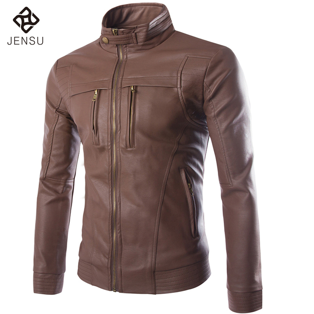 Men Leather Jackets Fashion Leather Coats For Men Casual Dress New Arrivals Outwears Slim Fit Winter Coats Hot Sale