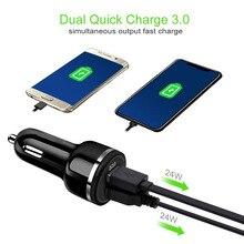 Thbelive 2 шт. автомобильное зарядное устройство USB QC 3,0 автомобильные зарядные устройства для мобильного телефона автомобильное зарядное устройство USB двойной USB Автомобильное зарядное устройство Розничная оптом