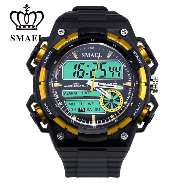 SMAEL New Men Watch Esporte Relógios Assistiu À Prova D' Água Relógio Digital Display LED Moda Assista relogio masculino Dos Homens do Estilo WS1438