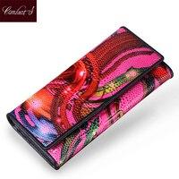 Diseño de marca Nuevas Carpetas de Las Mujeres de La Vendimia Marcas Famosas Mujer Cartera Monedero Largo Femenino Carpeta de Las Señoras Bolso de Mano Del Embrague Del Mitón