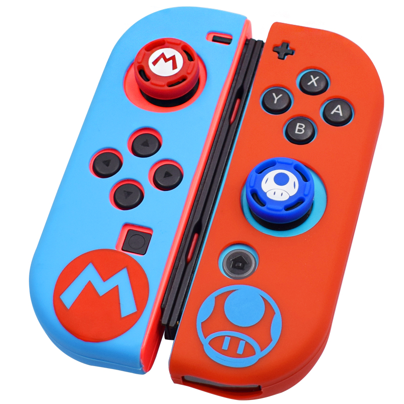 Silicone Joycon Cover for Nintend Switch Antislip Rubber Skin Case Protective Thumb Grip Caps for Nintendo Switch Controller(China)