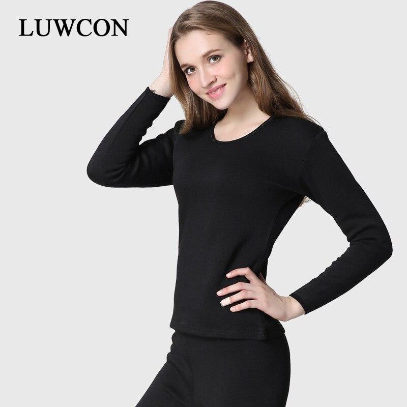 LUWCON Autumn Winter Thermal Underwear For Women Warm Long Johns Ladies Slim Underwears Sets Thick