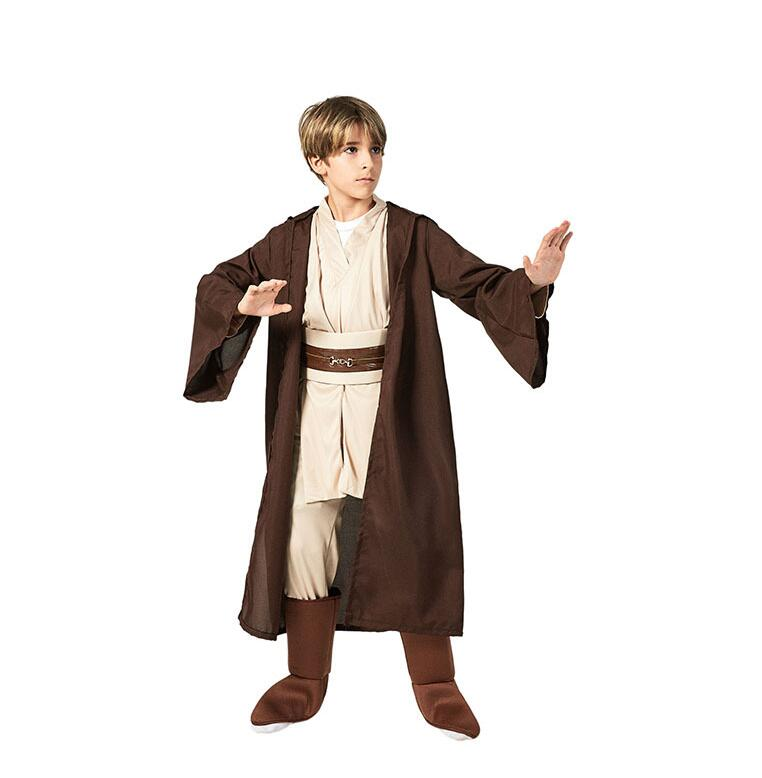 New Boys Star Wars Deluxe Jedi Warrior Movie Character Cosplay Party Clothing Kids Fancy Halloween Purim Carnival Costumes