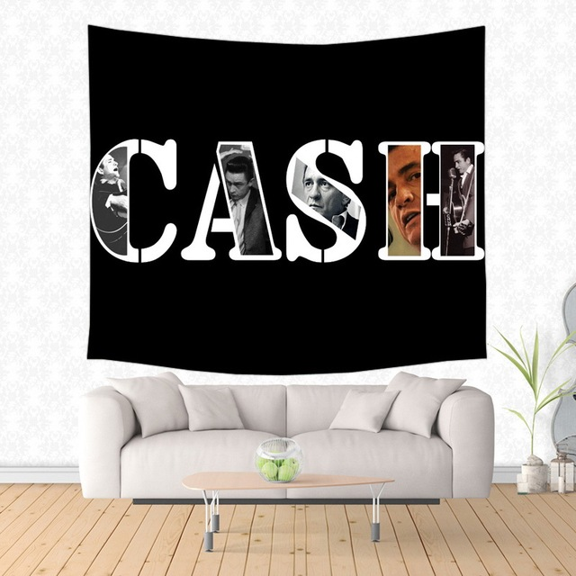2017 New Johnny Cash Design Wall Hanging Tapestry Fashion Wall Art ...