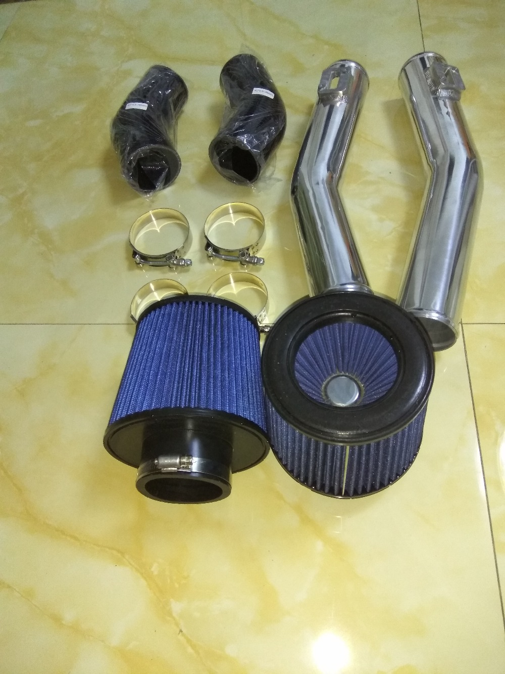 Gtr R35 Turbo Upper Air Intake Pipe And Filter 2009 2015 76mm Fuel 70mm Diameter In Hoses Clamps From Automobiles Motorcycles On