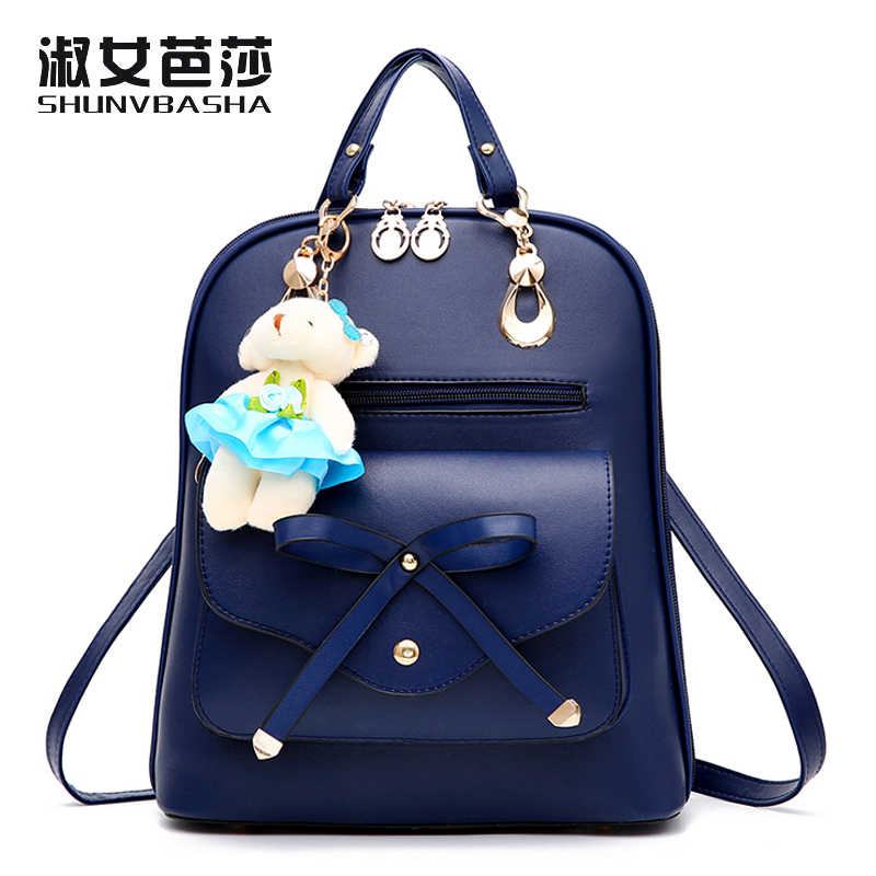 Women Travel Bags PU Leather Fashion Famous Brand School Backpacks Lovely Girl School Bags Ladies Bag 2017 New Female Back Pack# jooz brand new fashion women backpacks pu leather female casual bag girls floarl appliques sweet style mini school bags