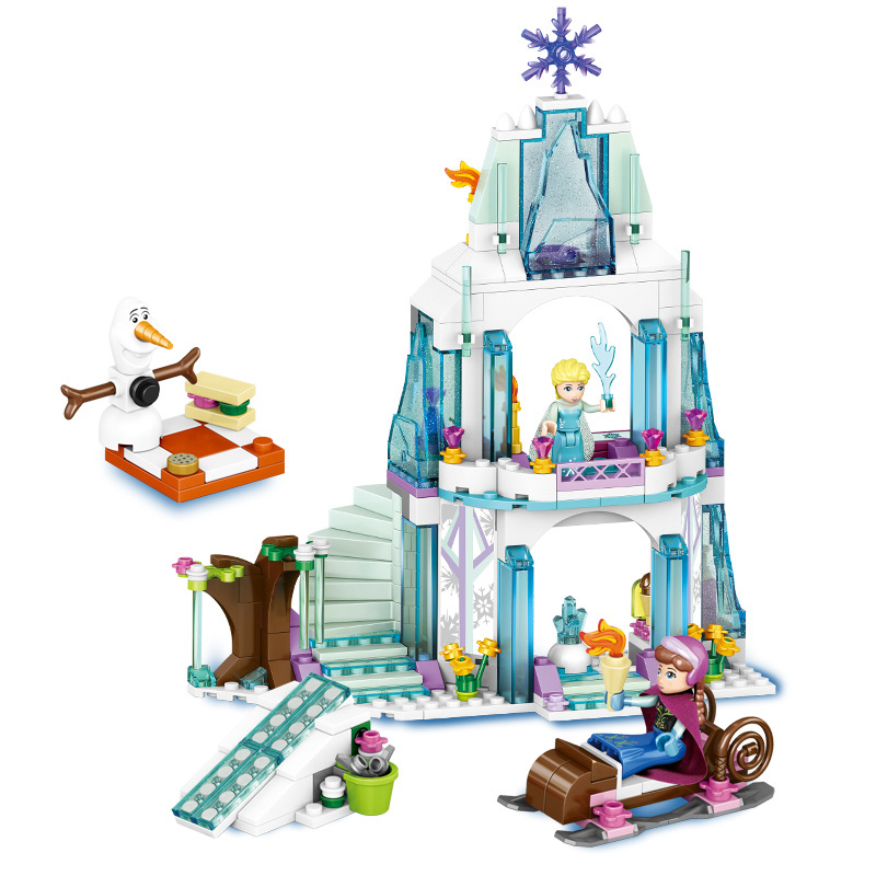 Image 2 - 3 style Dream Princess Frozen Castle Elsa Ice Castle Princess Anna Stacking Building Blocks Bricks Toy Compatible With-in Blocks from Toys & Hobbies