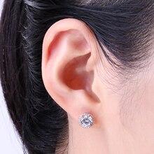 Sterling Silver CZ Stud Rose Gold Earrings Jewelry
