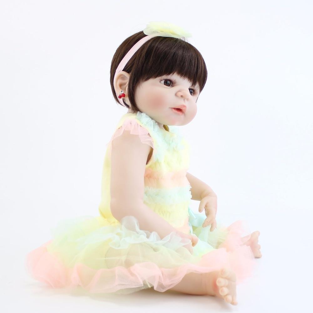Zamok Gryoz Servo Motor Wiring Diagram Seiko Uav Ps050 55cm Full Silicone Reborn Baby Doll Toy Vinyl Newborn Princess Babies Bebe Alive Kids Bathe Acconpanying Cute Birthday Gift