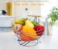 Stainless steel fruit basket European fruit plate creative cradle fruit bowl racks living room modern minimalist fruit basket