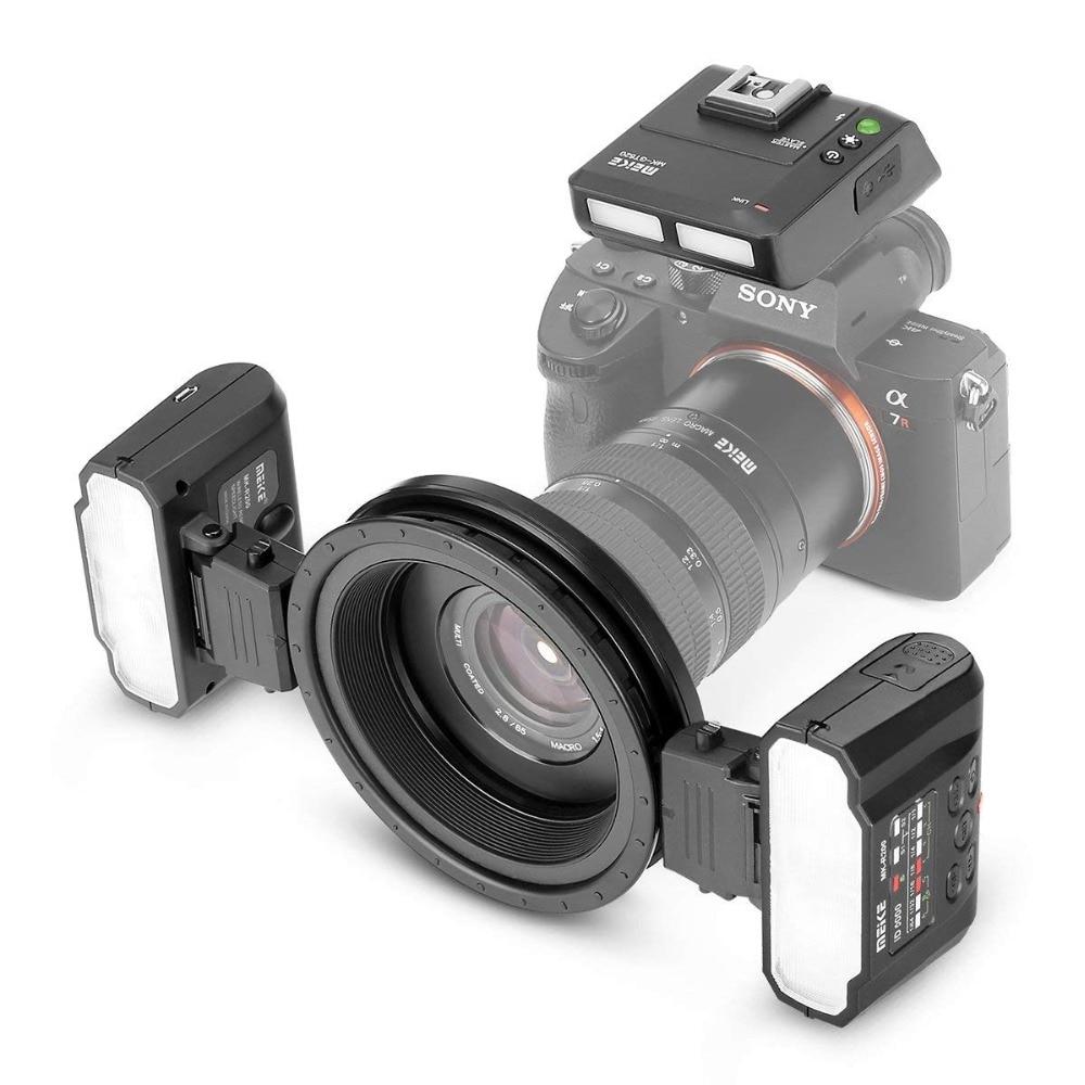 Flash Speedlite Meike MK-MT24 Macro Twin Lite para Canon Nikon Sony - Cámara y foto - foto 3
